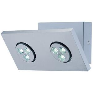 LED 2-lite Wall Lamp, Silver, (1wx3)*2 Sets