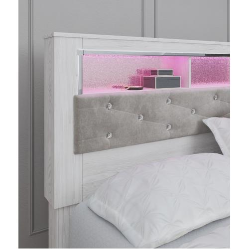 Signature Design By Ashley - Altyra King Upholstered Panel Bookcase Headboard