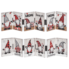 Gnome for the Holidays Accordion Signs - 6 Panel (6 pc. ppk.)