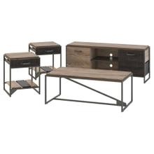 Refinery 60W TV Stand with Coffee Table and Set of 2 End Tables - Rustic Gray