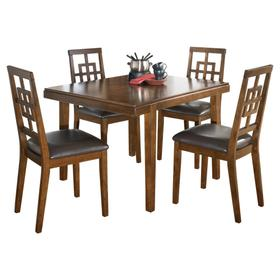 Cimeran Table & 4 Chairs Brown
