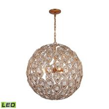 Evolve 8-Light Chandelier in Matte Gold with Clear Crystal - Includes LED Bulbs