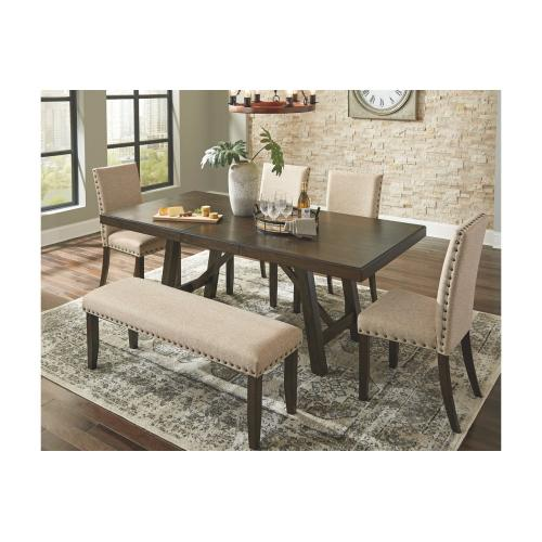 Rokane RECT Dining Room EXT Table Brown