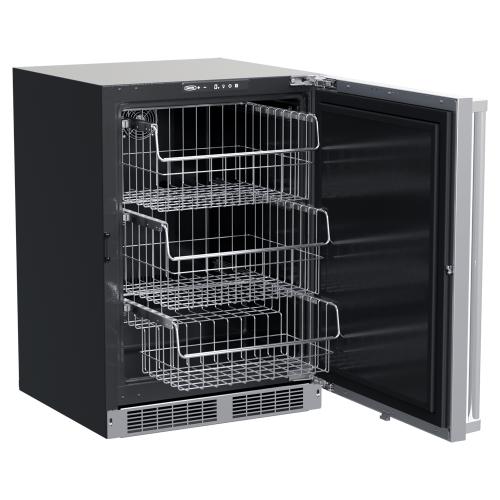 24-In Professional Built-In Freezer With Reversible Door with Door Style - Stainless Steel