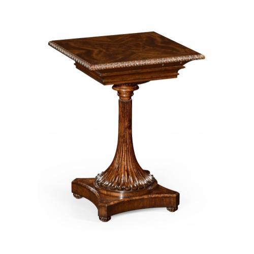William IV mahogany table with secret storage