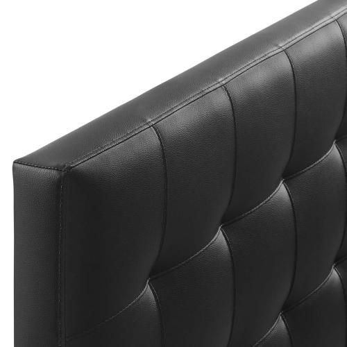 Lily Queen Upholstered Vinyl Headboard in Black