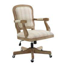 Upholstered Office Chair, Antique Brown