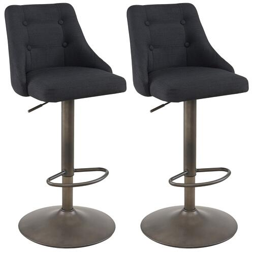 Adyson Air Lift Stool, set of 2 in Black