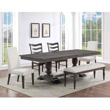 View Product - Hutchins 6-Piece Dining Set, Upholstered Chairs (Table, 4 Side Chairs & Bench)