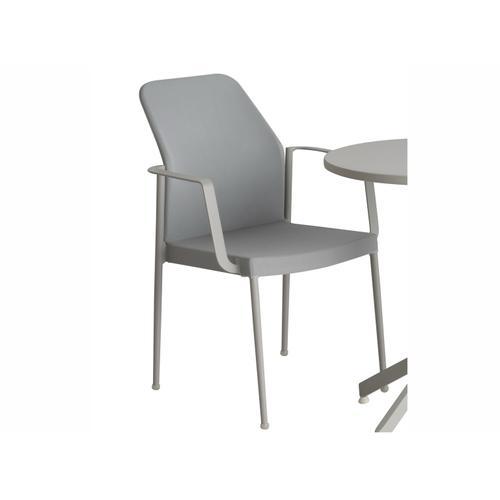 Fole Stackable Alum+ Sling Bistro Arm Chair
