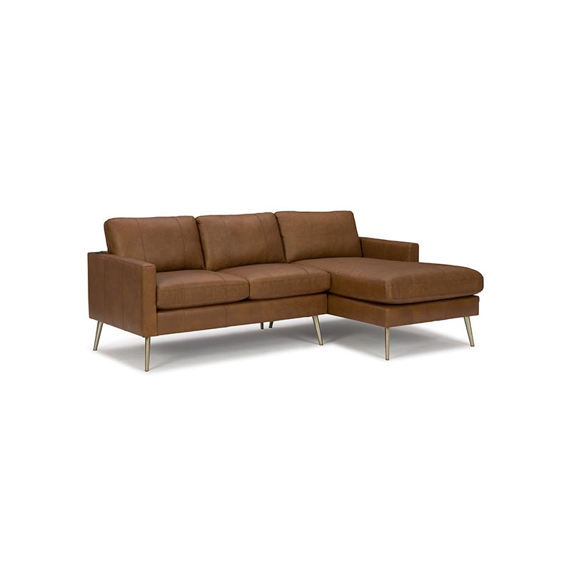 TRAFTON LEATHER SECTIONAL Stationary Sofa