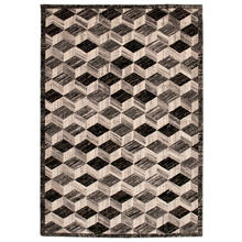 "Liora Manne Fresco Cubes Indoor/Outdoor Rug Silver 4'10"" x 7'6"""