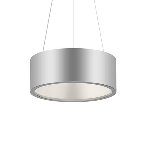 "Sonneman - A Way of Light - Tromme LED Pendant [Size=18"" Standard, Color/Finish=Bright Satin Aluminum]"