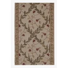 "Ashton House Regal Vine A02r Ivory 27"" Runner"