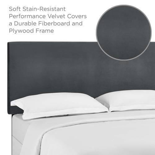 Modway - Taylor Full / Queen Upholstered Performance Velvet Headboard in Gray