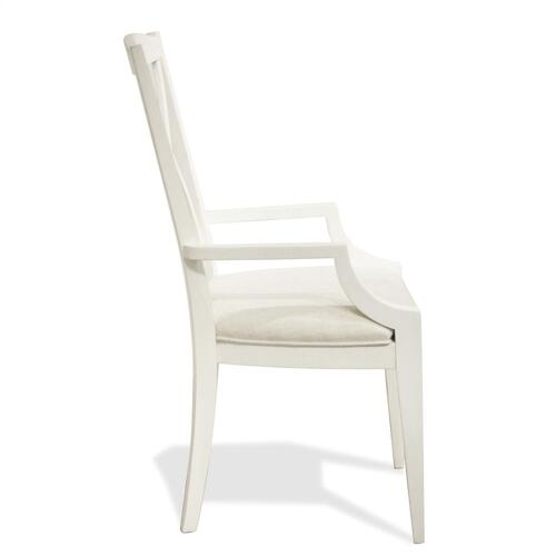 Myra - Xx-back Upholstered Arm Chair - Paperwhite Finish