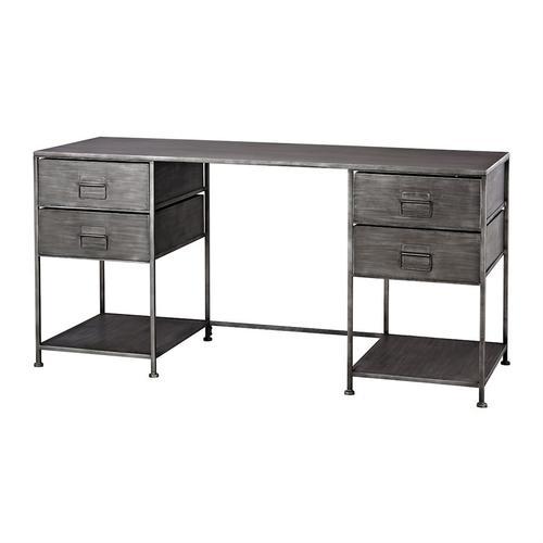 Gunthery 4-Drawer Desk in Graphite