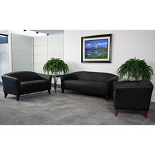 HERCULES Imperial Series Black LeatherSoft Loveseat