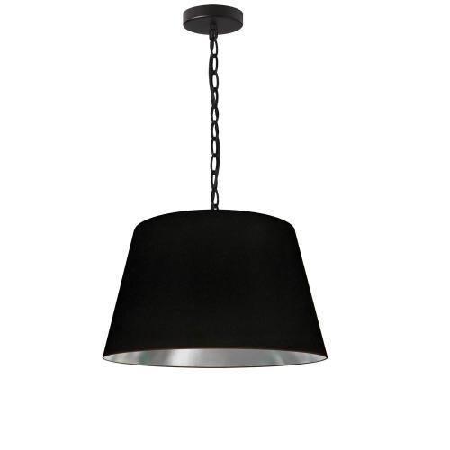 Product Image - 1lt Brynn Small Pendant, Blk/sv Shade, Black