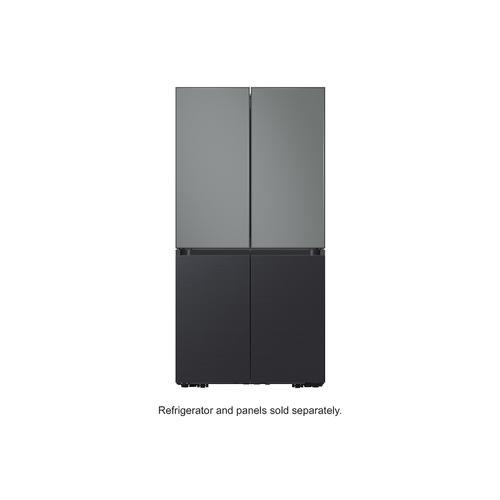 Samsung - BESPOKE 4-Door Flex™ Refrigerator Panel in Grey Glass (matte) - Top Panel