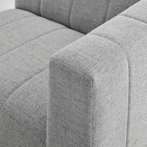 Modway - Bartlett Upholstered Fabric Right-Arm Chair in Light Gray