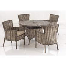 Charlotte Wicker Dining Arm Chair with Sunbrella cushion