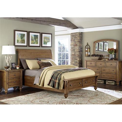 Liberty Furniture Industries - King Storage Bed, Dresser & Mirror, NS