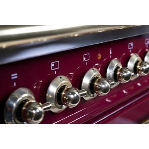 60 Inch Burgundy Dual Fuel Liquid Propane Freestanding Range