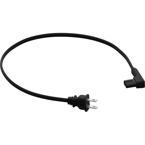Black- Angled Power Cable