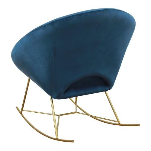 Nolan Navy Velvet Rocking Chair