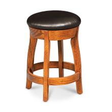 "Clayton Swivel Barstool, 24""h, Fabric Seat"