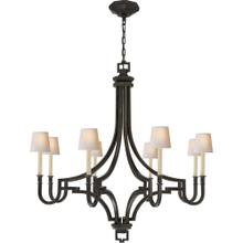Visual Comfort CHC1562AI E. F. Chapman Mykonos 8 Light 37 inch Aged Iron Chandelier Ceiling Light