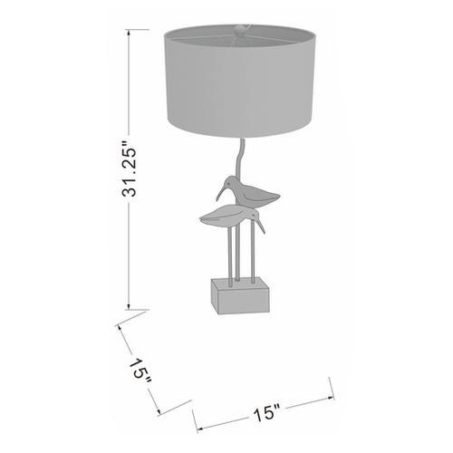 """Surya - Seagull SGLP-001 31""""H x 15""""W x 15""""D"""