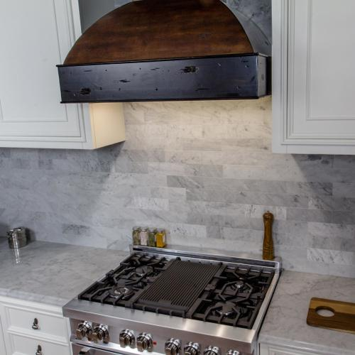 """ZLINE 36"""" Wooden Wall Mount Range Hood in Antigua and Walnut - Includes Dual Remote Motor (369AW-RD-36) [Size: 36 Inch, CFM: 1200]"""