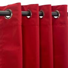 See Details - Sunbrella Canvas Jockey Red Outdoor Curtain with Grommets