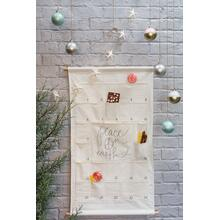 "View Product - Canvas Advent Calendar (Size:24.5""x 39.5"", Color:Off-White)"