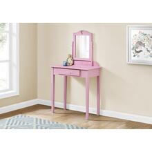 VANITY - PINK / MIRROR AND STORAGE DRAWER