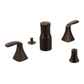 Voss oil rubbed bronze two-handle bidet faucet