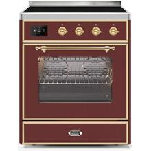 30 Inch Burgundy Electric Freestanding Range