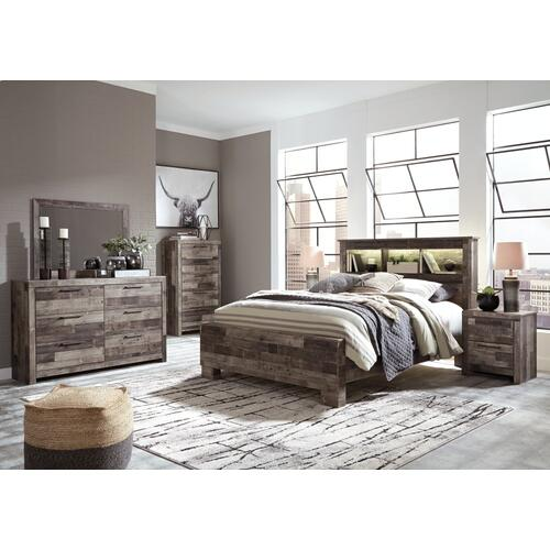Derekson Queen Panel Bookcase Bed