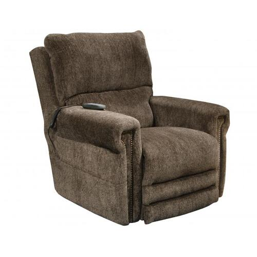 Power Headrest w/Lumbar Power Lay Flat Recliner