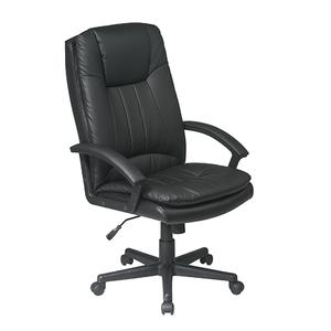 Office Star - Deluxe High Back Executive Bonded Leather Chair