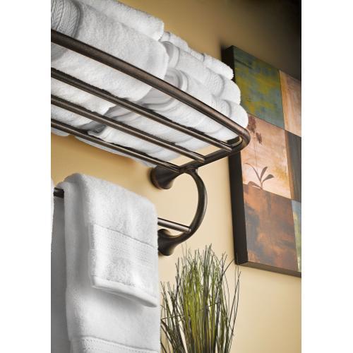 Eva Brushed nickel towel shelf