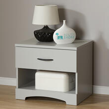 1-Drawer Nightstand - End Table with Storage - Soft Gray