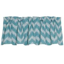 Catalina Kitchen Valance W/ Blue U0026 White Chevron