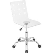 See Details - Swiss Office Chair - Chrome, Clear Acrylic