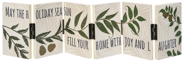 Accordion Signs - 6 Panels - May the holiday season fill your home with joy and laughter