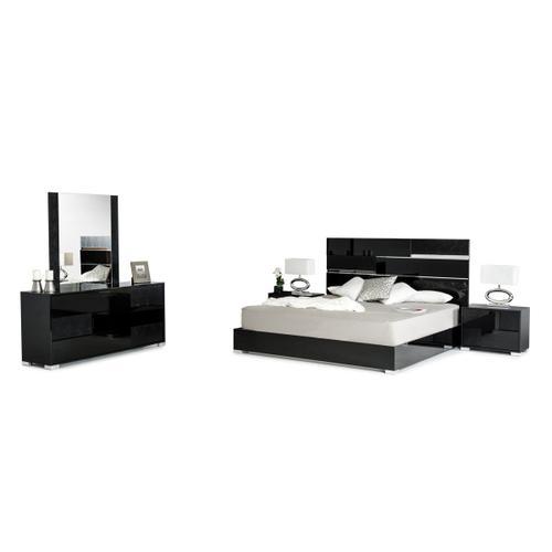 Modrest Ancona Italian Modern Black Dresser