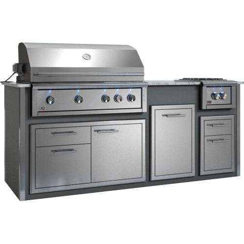 "Appliance Ready Pre-Assembled 42"" Designer Island Gray"
