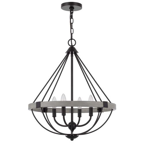 60W x 4 Somersworth metal chandelier